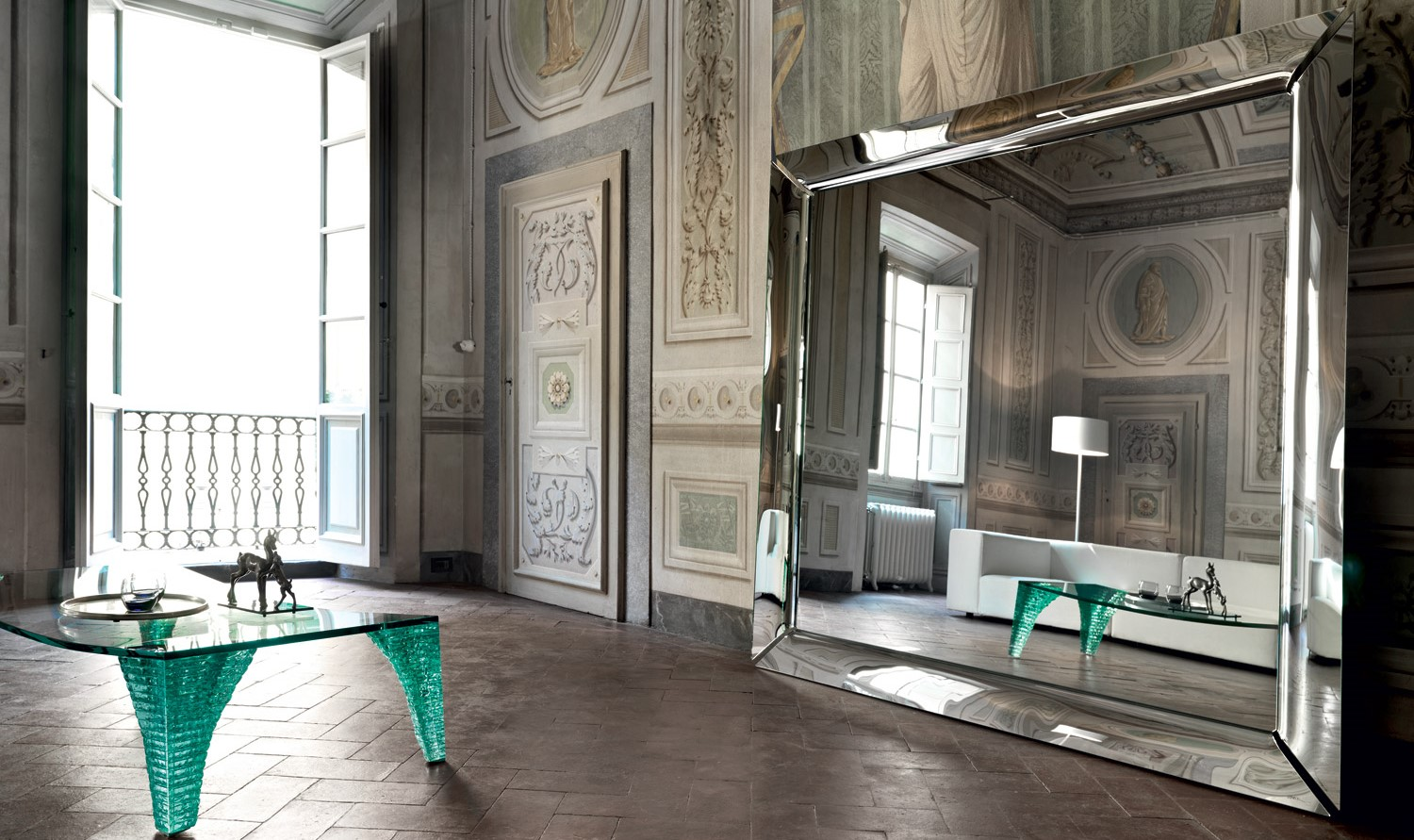 Unique large floor mirrors