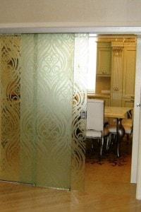 Раздвижная стеклянная дверь №14