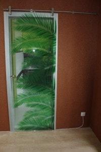 Раздвижная стеклянная дверь №15