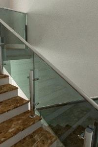 Стеклянные лестницы и ограждения №1