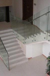 Стеклянные лестницы и ограждения №2