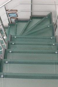 Стеклянные лестницы и ограждения №4