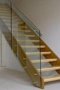 Стеклянные лестницы и ограждения №7