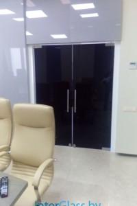 Распашная стеклянная дверь №8