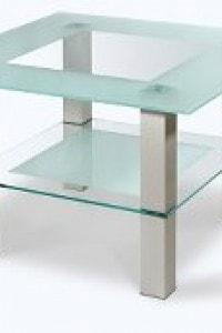 Стеклянный журнальный стол №23