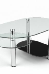 Стеклянный журнальный стол №4
