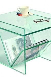 Стеклянный журнальный стол №26