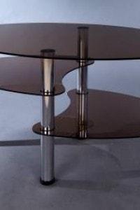 Стеклянный журнальный стол №27