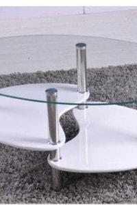 Стеклянный журнальный стол №33