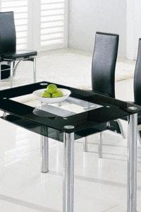 Стеклянный обеденный стол №7