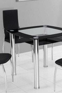 Стеклянный обеденный стол №8