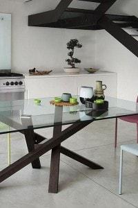 Стеклянный обеденный стол №9