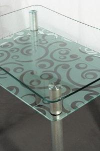 Стеклянный обеденный стол №1