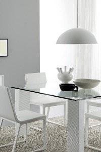 Стеклянный обеденный стол №3