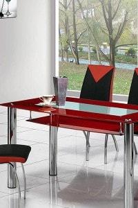 Стеклянный обеденный стол №6