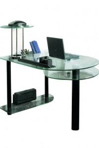 Стеклянный офисный стол №6