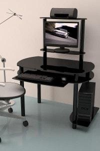 Стеклянный офисный стол №4