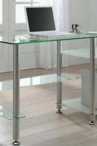 Стеклянный офисный стол №3