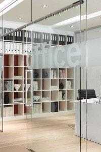 Стеклянная перегородка для офиса или магазина №15