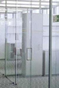 Стеклянная перегородка для офиса или магазина №30