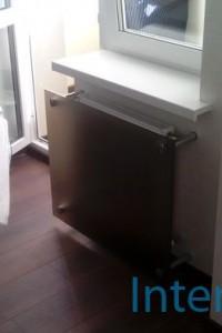 Стеклянный экран на радиатор №1