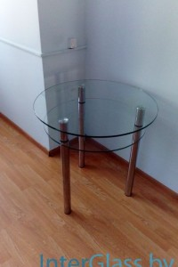 Стеклянный журнальный стол №35