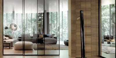 Дизайн комнат со стеклянной перегородкой