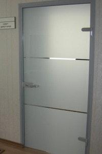 Распашная стеклянная дверь №14