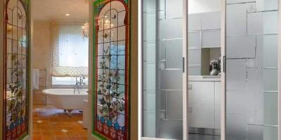 Стеклянные двери для ванной: лучшие решения