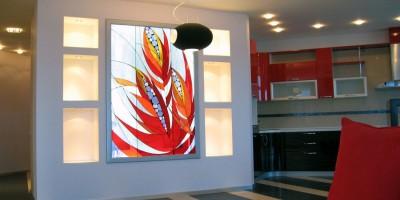 Фьюзинг стекла в дизайне интерьера