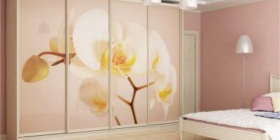 Стеклянные фасады шкафа-купе: возможности декора