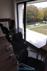 Стеклянный офисный стол №10