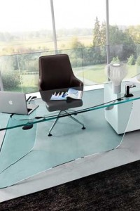 Стеклянный офисный стол №8