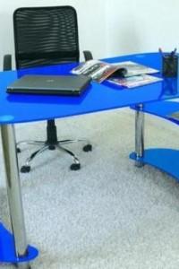 Стеклянный офисный стол №5