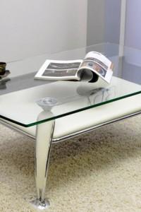 Стеклянный журнальный стол №19